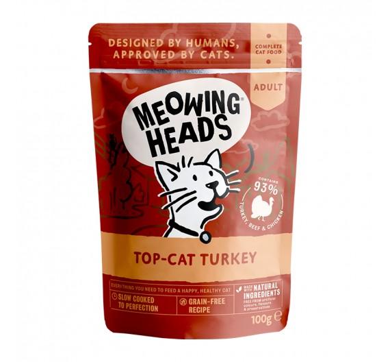 Meowing Heads Wet Top Cat Turkey 100gr