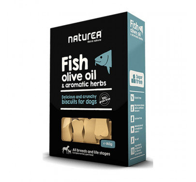 Naturea Biscuits Fish, Olive Oil & Aromatic Herbs 230gr