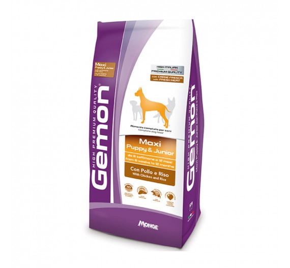 Gemon Puppy & Junior Maxi Chicken & Rice 3kg