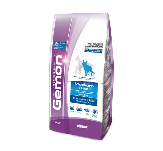 Gemon Dog Adult Medium Tuna & Rice 15kg