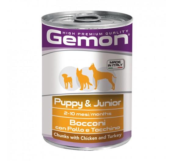 Gemon Dog Chunks Junior Chicken & Turkey 415g