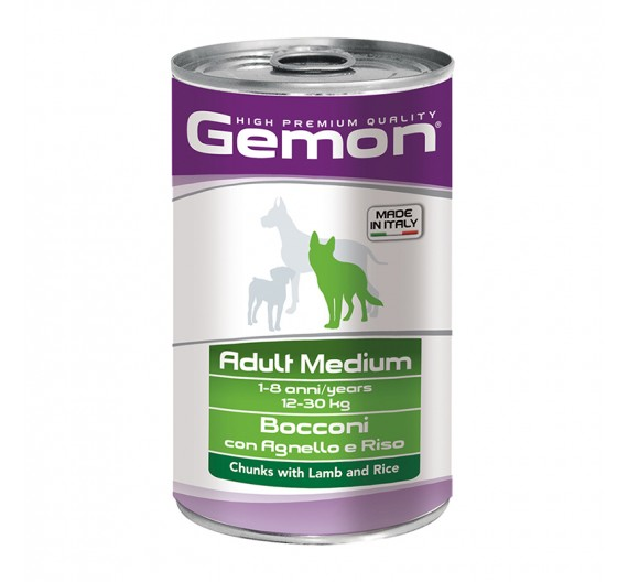 Gemon Dog Chunks Adult Medium Lamb & Rice 1250g
