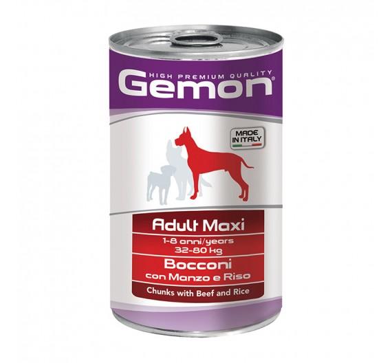 Gemon Dog Chunks Adult Maxi Beef & Rice 1250g