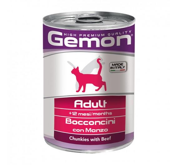 Gemon Cat Chunkies Adult Beef & Veal 415g