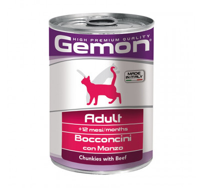 Gemon Cat Chunkies Adult Beef & Veal 415g