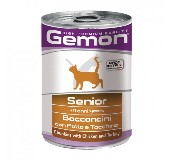 Gemon Cat Chunkies Senior Chicken & Turkey 415g