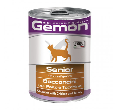 Gemon Cat Chunkies Senior Chicken & Turkey 415g