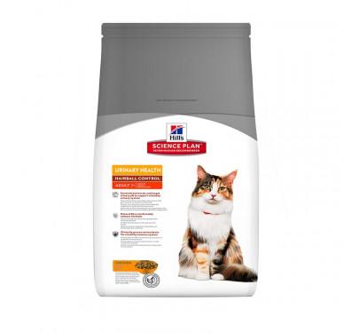 Hills SP Feline Adult Urinary & Hairball Chicken 3kg