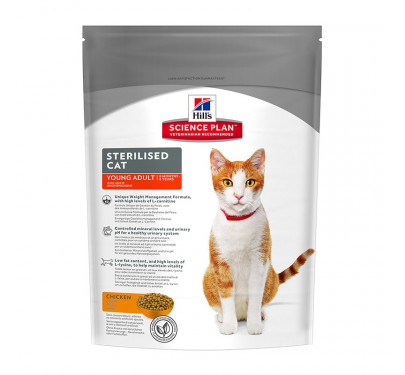 Hills SP Feline Young Adult Sterilized Cat Chicken 300g