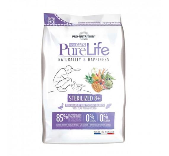 Flatazor Pure Life Cat Sterilized 8+ 2kg