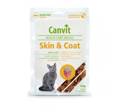 CANVIT Σνακ Γάτας Skin & Coat 100gr