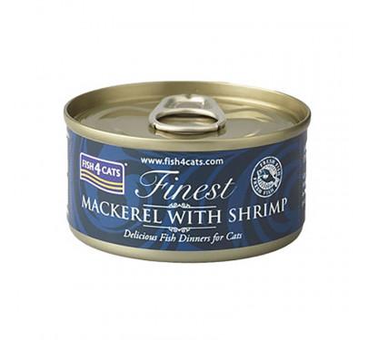 Fish4Cats Macherel & Shrimp 70gr