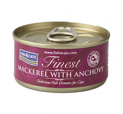 Fish4Cats Mackerel & Anchovy 70gr