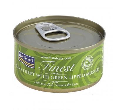 Fish4Cats Tuna Fillet & Green Lipped Mussels 70gr