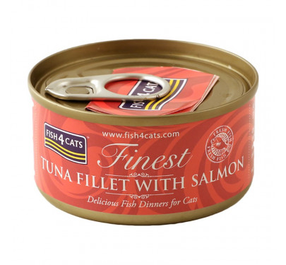 Fish4Cats Tuna Fillet & Salmon 70gr