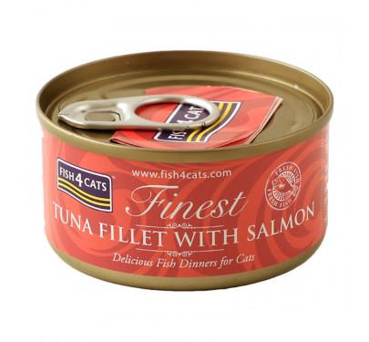 Fish4Cats Tuna Fillet & Salmon 70gr