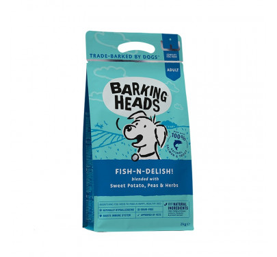 Barking Heads Fish-n-delish Grain Free - Salmon & Trout 2kg