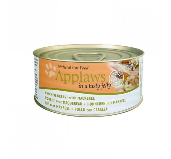 Applaws Jelly Κοτόπουλο & Σκουμπρί 3x70gr