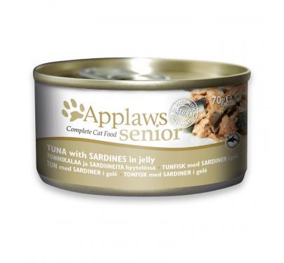 Applaws Senior Jelly Τόνος & Σαρδέλα 70gr
