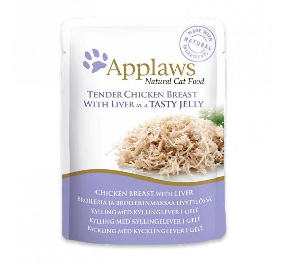 Applaws Jelly Φακελάκι Κοτόπουλο & Συκώτι 70gr
