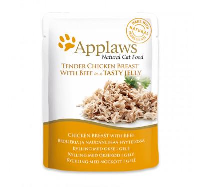 Applaws Jelly Φακελάκι Κοτόπουλο & Μοσχάρι 3x70gr