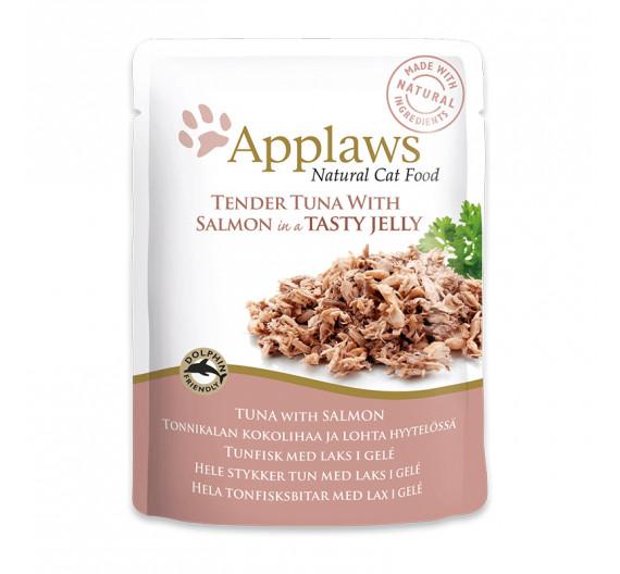 Applaws Jelly Φακελάκι Τόνος & Σολομός 70gr