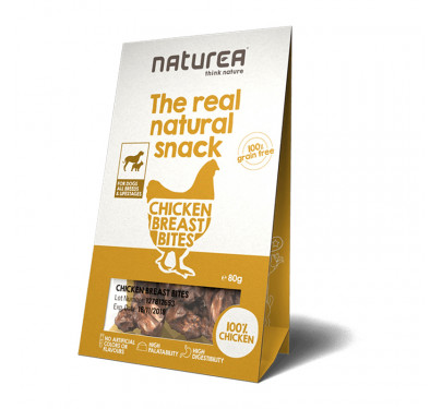 Naturea Natural Snacks Chicken Breast Bites 80gr