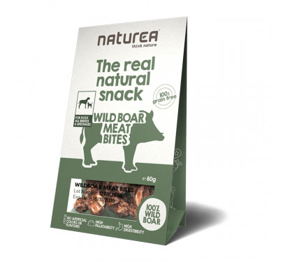 Naturea Natural Snacks Wildboar Meat Bites 80gr
