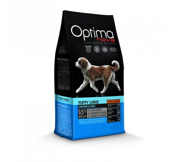Optima Nova Puppy & Junior Large Breed Chicken & Rice 12kg