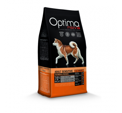 Optima Nova Adult Sensitive Salmon & Potato 12kg