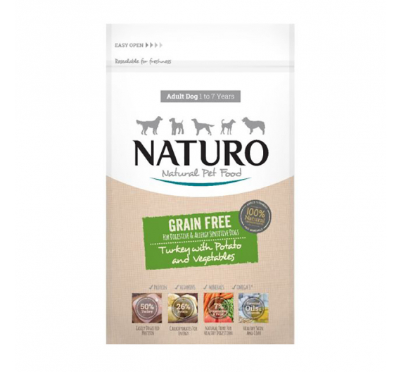 NATURO Adult Grain Free Turkey, Potato & Veggies 2kg