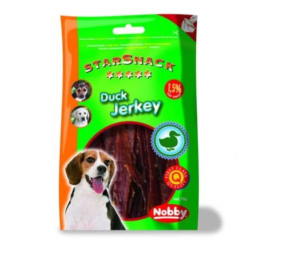 Nobby Starsnack Duck Jerkey 70gr