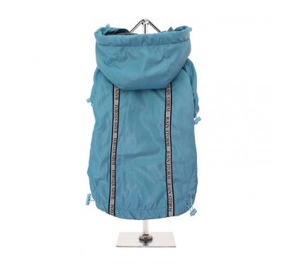 Μπλε Αδιάβροχο Σκύλου με επένδυση Fleece