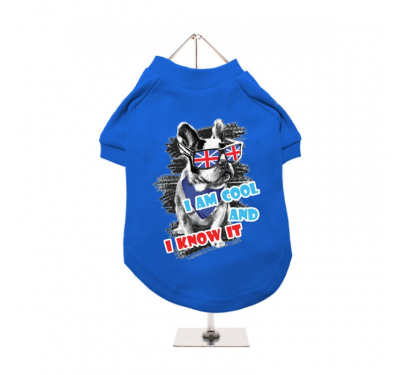 """Βαμβακερό T-shirt Σκύλου """"Cool And Know It"""""""