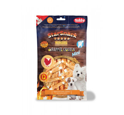 Nobby Starsnack Puppy & Small Wrapped Chicken 113gr
