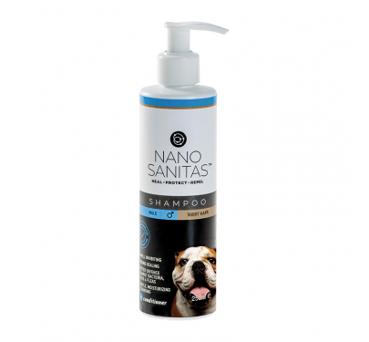 Nanosanitas Σαμπουάν για Αρσενικούς Κοντότριχους Σκύλους 250ml