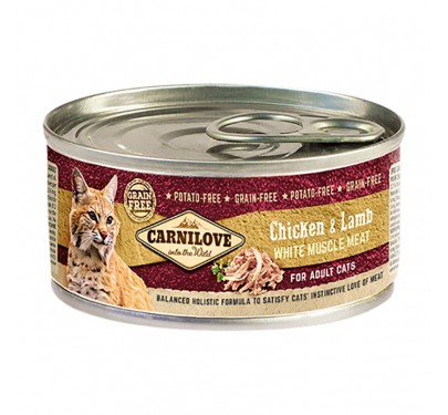 Carnilove Can Adult Cats Chicken & Lamb 100gr