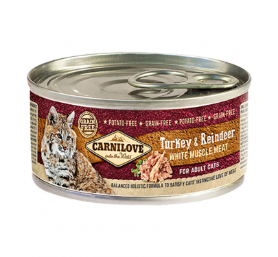 Carnilove Can Adult Cats Turkey & Reindeer 100gr