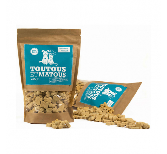 Toutous et Matous Μπισκότα για Κουτάβια 400gr