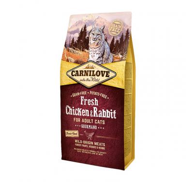 Carnilove Adult Cats Chicken & Rabbit Gourmand 2kg + 400gr ΔΩΡΟ