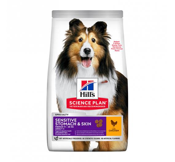 Hills SP Adult Sensitive Stomach & Skin Medium Κοτόπουλο 14kg