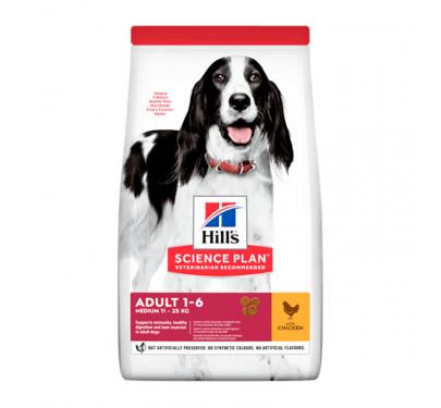 Hills SP Adult Medium Chicken 11kg + 3kg ΔΩΡΟ