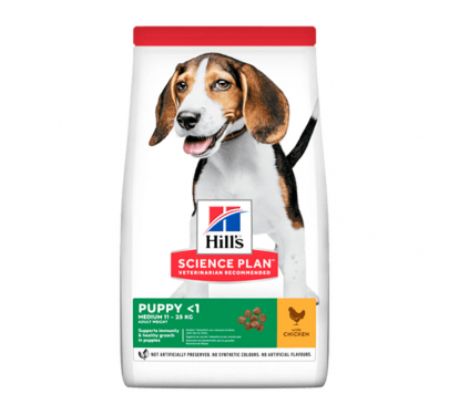 Hills SP Puppy Medium Κοτόπουλο 11kg + 3kg ΔΩΡΟ
