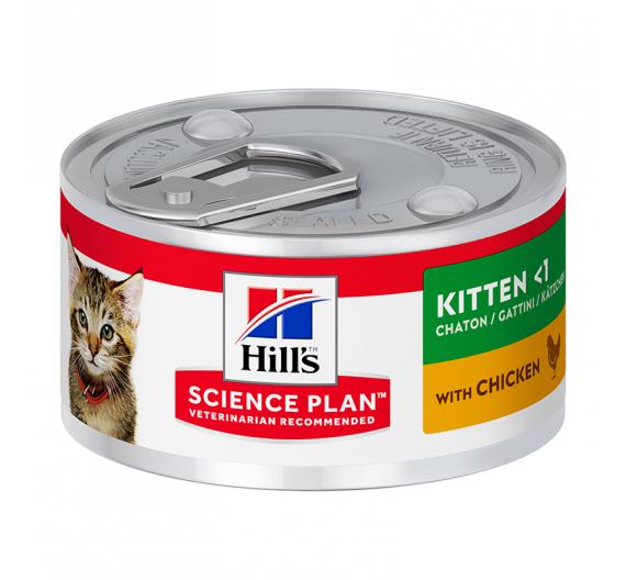 Hills SP Kitten Κονσέρβα με Συκώτι & Κοτόπουλο 82gr