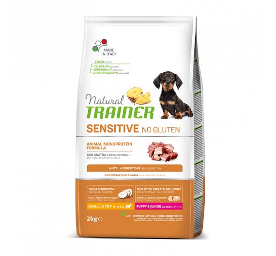 Natural Trainer Sensitive Puppy & Junior Mini Πάπια 2kg