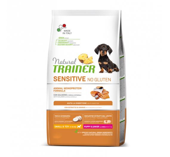 Natural Trainer Sensitive Puppy & Junior Mini Σολομός 2kg