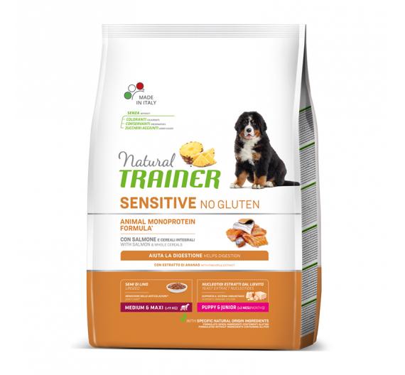 Natural Trainer Sensitive Puppy M/M Σολομός (1-8) 3kg