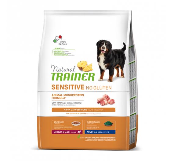 Natural Trainer Sensitive Adult M/M Χοιρινό 3kg
