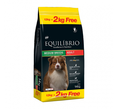 Equilibrio Adult Medium Breed 12kg + 2kg ΔΩΡΟ