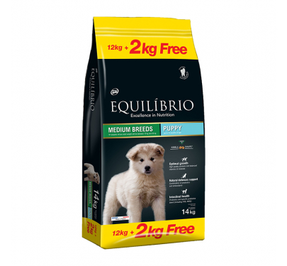 Equilibrio Puppy Medium Breed 12kg + 2kg ΔΩΡΟ